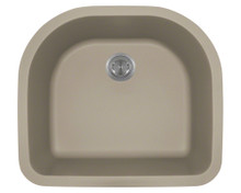 Polaris P428ST Slate D-Shape Undermont AstraGranite Kitchen Sink 24 3/4 in.
