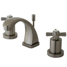 Kingston Brass KS4948ZX Two Handle Mini Widespread Lavatory Faucet - Satin Nickel