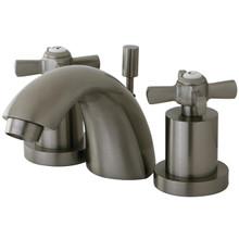 Kingston Brass KS2958ZX Two Handle Mini Widespread Lavatory Faucet - Satin Nickel