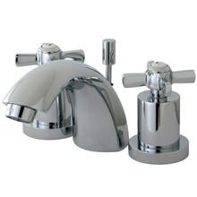 Kingston Brass KS2951ZX Two Handle Mini Widespread Lavatory Faucet - Polished Chrome
