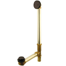 "Kingston Brass DTT2185 18"" Tub Waste & Overflow With Tip Toe Drain - Oil Rubbed Bronze"