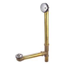 "Kingston Brass DLL3168 16"" Tub Waste & Overflow With Lift & Lock Drain - Satin Nickel"