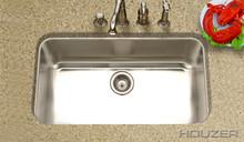 """Houzer Medallion MGS-3018-1 32 3/8"""" X 18 7/8"""" Undermount Kitchen Sink & Strainer - Stainless Steel"""