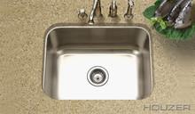 """Houzer Medallion MS-2309-1 23 3/16"""" X 17-15/16"""" Undermount One Bowl Kitchen Sink & Strainer - Stainless Steel"""