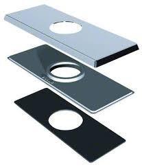 """Danze DA607568BN 4"""" Centerset Square Deck Cover Plate - Brushed Nickel"""