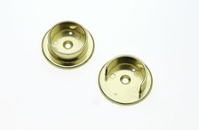 "JVJ 90537 Polished Brass 1 3/8"" Diameter Hanging Pole Socke"