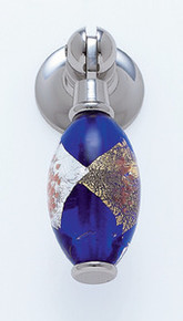 """JVJ 47714 Polished Nickel 30 mm (1 3/16"""") Pendant Drop Door Pull - Gold and Silver on Blue"""