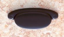 """JVJ 46620 Oil Rubbed Bronze 2 1/2"""" C/C/ Smooth Cup Door Pull"""