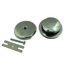 Kingston Brass DTT5302A1 Toe Tap Drain Kit - Polished Chrome