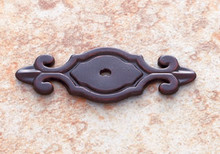 "JVJ 46712 Old World Bronze 3"" Deco Back Plate for Door Knob"