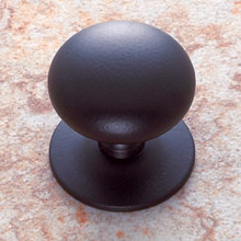 "JVJ 35420 Oil Rubbed Bronze 1 1/2"" Plymouth Door Knob With Back Plate"