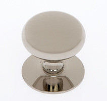 "JVJ 35416 Polished Nickel 1 1/2"" Plymouth Door Knob With Back Plate"