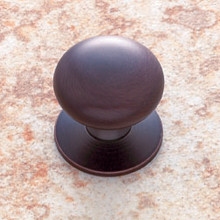 "JVJ 34412 Old World Bronze 1 1/4"" Plymouth Door Knob With Back Plate"
