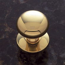 "JVJ 34401 Solid Brass 1 1/4"" Plymouth Door Knob With Back Plate"
