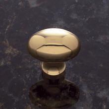 JVJ 32301 Solid Brass Football Door Knob