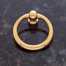"""JVJ 31001 Solid Brass 1 1/2"""" Diameter Ring Door Pull"""