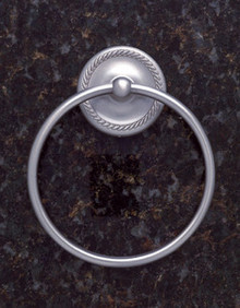JVJ 23606 Roped Series Satin Nickel Towel Ring
