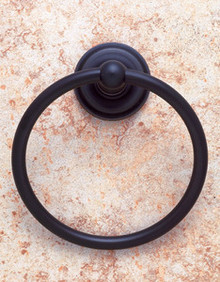 JVJ 22206 Highland Series Dark Oil Rubbed Bronze Towel Ring
