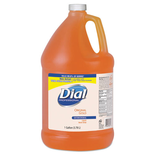 Dial liquid antimicrobial handsoap one gallon bottles case of 4 gallon DIA88047CT