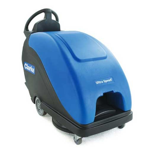 Clarke Ultra Speed 20T 56383524 battery powered burnisher 20 inch with traction drive dust control 234ah maintenance free gel battery on board charger
