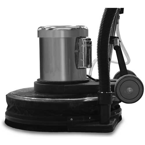 Dust control skirt kit 882917 with vacuum hose port for 17 inch floor buffers