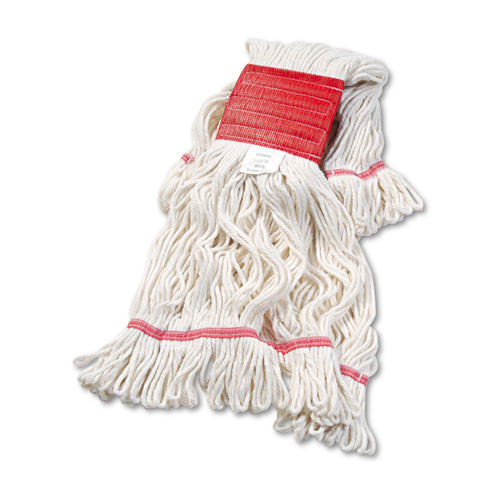 Boardwalk BWK503WHCT Super Loop looped end wet mop heads large white 5 inch headband case of 12 replaces UNS716C