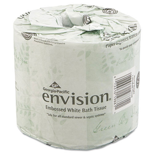 Envision GPC1988001 standard roll bathroom tissue 2 ply 550 sheets 4.5x4.05 case of 80 rolls