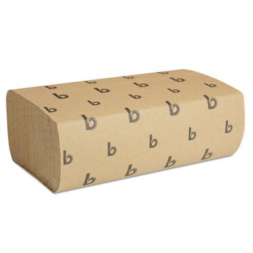 Boardwalk BWK6202 paper hand towels multifold brown kraft 9x9.45 sheet case of 4000