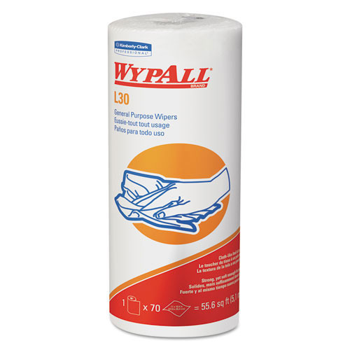 Wypall kcc05843 wipes L30 all purpose white perforated roll 11x10.4 sheet size case of 1680