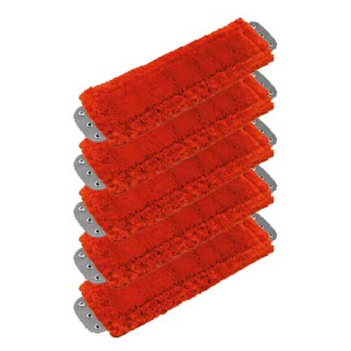 Unger MM40RGW SmartColor red antibacterial microfiber mops heavy duty 16x5 launderable case of 5 GW
