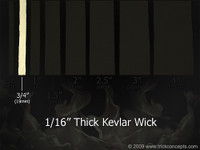 ".75"" (19mm) Wide - 1/16"" (1.5mm) Thick Kevlar Wick"