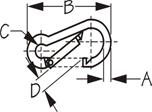 Sea Dog Snap Hook Dimensions