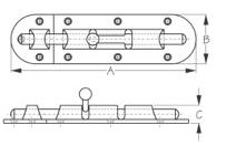 Sea Dog Barrel Bolt Dimensions