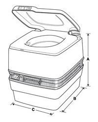 Thetford Porta Potti 550p Portable Toilet Wholesale Marine