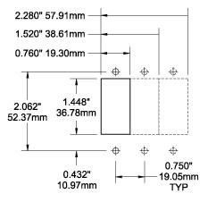 Blue Sea C Series Circuit Breaker Cutout Dimensions