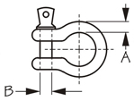 Sea Dog Anchor Shackle Dimensions