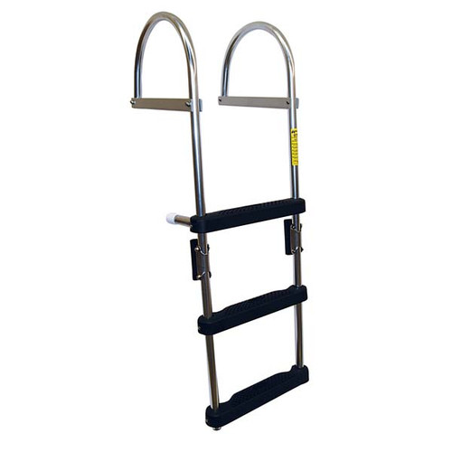Garelick 3-Step Folding Pontoon Transom Boarding Ladder