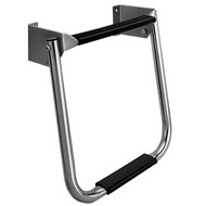 Garelick Compact 2 Step Stainless Steel Transom Ladder