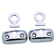 Attwood Stainless Steel Boat Fender Lock Kit, 1 Pair