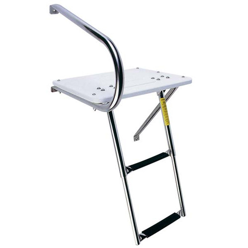 Garelick Outboard Transom Platform w/Telescoping Ladder