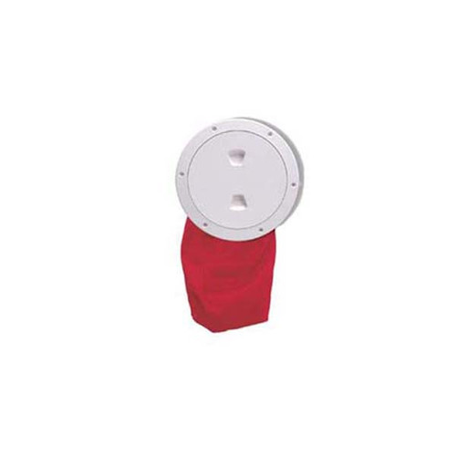 "Beckson 4"" Stow-Away Deck Plate- White"