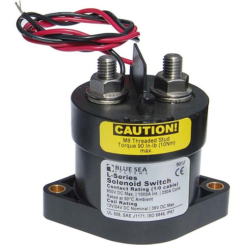 Blue Sea Systems L-Series Solenoid Switch 12 - 24V