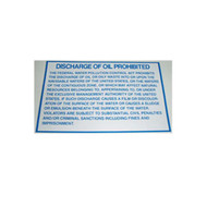 Discharge of Oil Prohibited Decal