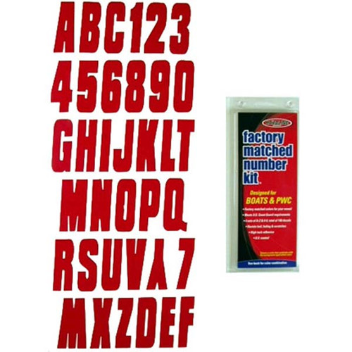 "3"" Boat Letter and Number Kit - Red"
