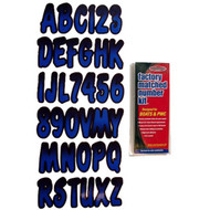 """3"""" Boat Letter and Number Kit - Blue and Black"""