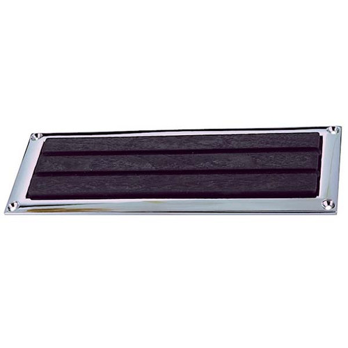 Perko Soft Black Plastic Step Pad with Chrome Frame - Pair