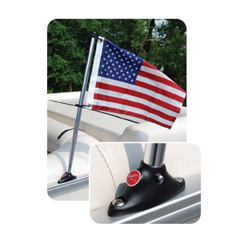Taylor Made Pontoon Flag Pole w/ Socket & Flag