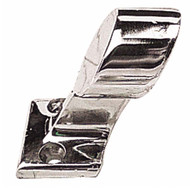Sea-Dog 60 Degree End Left Hand Set Screw Hand Rail Fitting, Chrome