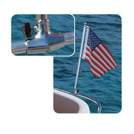Taylor Made Stainless Steel Rail Mount Flag Pole Socket