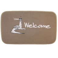 Welcome Door Mat Lighthouse Beige
